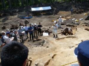 焼山遺跡では製鉄炉などの遺構が沢山見つかっています。この地域は宮古花崗岩帯に位置するため、砂鉄が取れやすい環境だったようです。