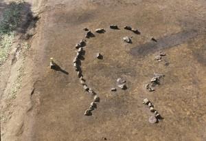 配石遺構(東から)